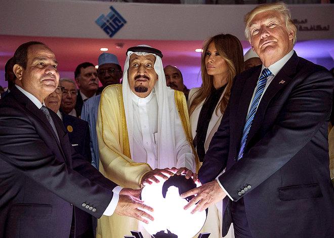 Trump Saudis orb