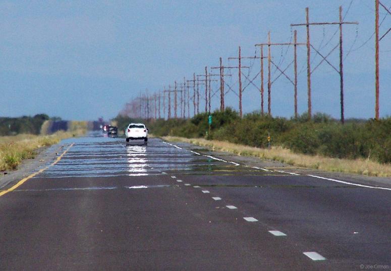 asphalt road mirage