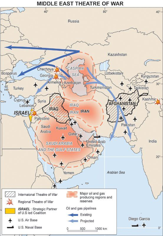 Middle East theater of war map