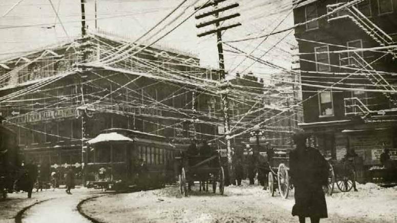 telephone lines winter